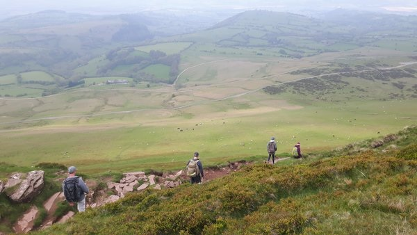 Descending Hay Bluff (Coleridge in Wales)