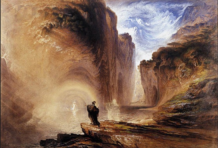 John Martin Manfred and the Witch of the Alps. 1837. The Whitworth Art Gallery, University of Manchester