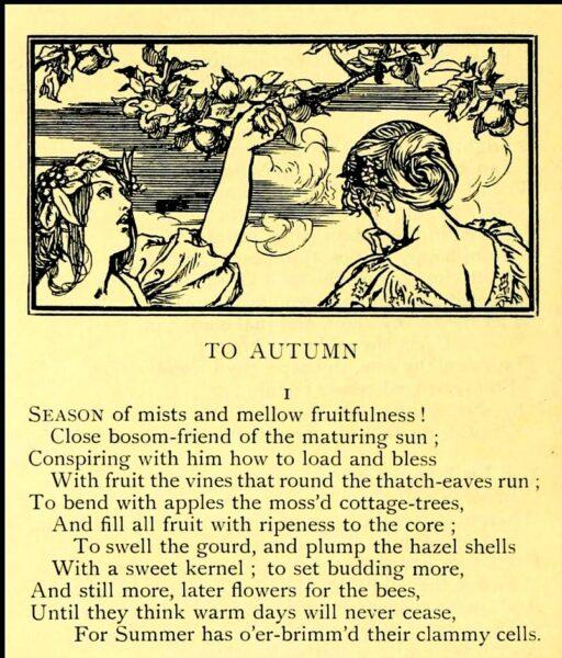 wordsworth ode to autumn