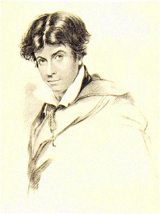 Leigh Hunt, engraved by H. Meyer from a drawing by J. Hayter